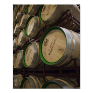 Bodega Marques de Riscal winery, wine cellar Poster