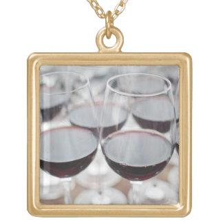 Bodega Marques de Riscal winery, wine tasting 3 Square Pendant Necklace