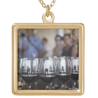Bodega Marques de Riscal winery, wine tasting Square Pendant Necklace