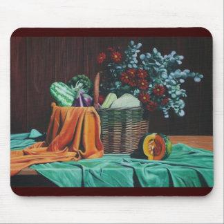 bodegon con flores rojas 30x40 mouse pad