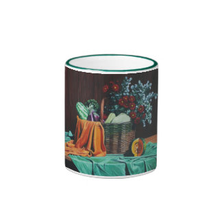 bodegon con flores rojas 30x40 ringer coffee mug