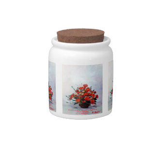 Bodegón of flowers/Still life of flowers Candy Jars