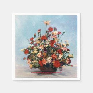 Bodegón of flowers/Still life of flowers Napkin