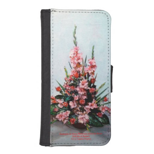Bodegón of flowers/Still life of flowers iPhone 5 Wallet Cases