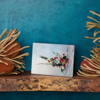 Bodegón of flowers/Still life of flowers Plaque