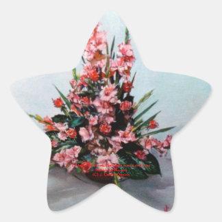 Bodegón of flowers/Still life of flowers Star Sticker