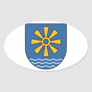 Bodensee district coat of arms oval sticker