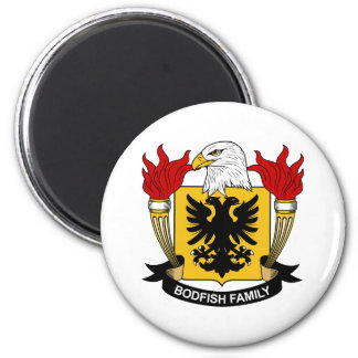 Bodfish Family Crest 2 Inch Round Magnet
