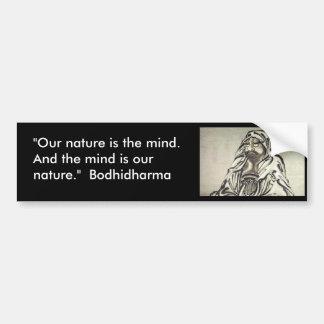 Bodhidharma 1 etiqueta de parachoque