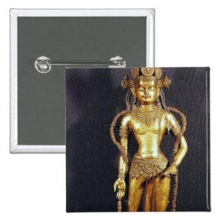 Bodhisattva Avalokitecvara, décimo quinto-décimose Pin Cuadrada 5 Cm