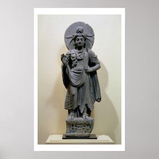 Bodhisattva figure, from Mekha-Sanda near Shabaz-G Poster