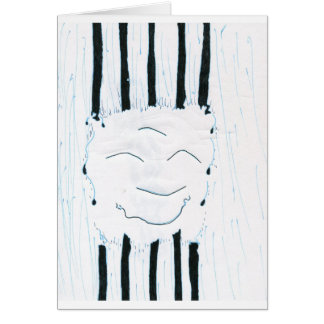 Bodhisattva from the rain greeting card