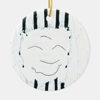 Bodhisattva from the rain ceramic ornament