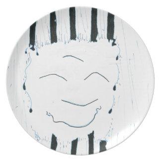 Bodhisattva from the rain dinner plate