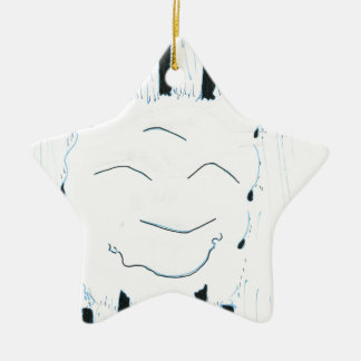 Bodhisattva from the rain Double-Sided star ceramic christmas ornament