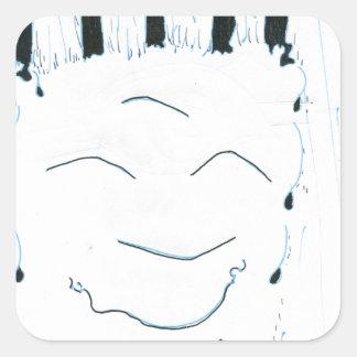 Bodhisattva from the rain square sticker
