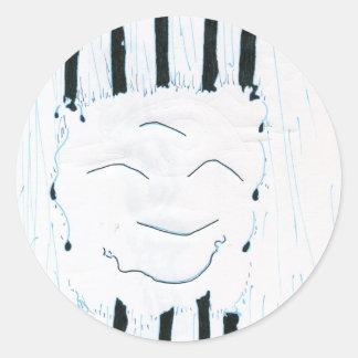 Bodhisattva from the rain classic round sticker