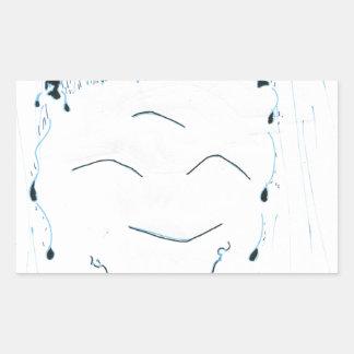 Bodhisattva from the rain rectangular sticker