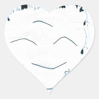 Bodhisattva from the rain heart sticker