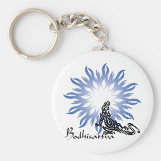 bodhisattva basic round button keychain