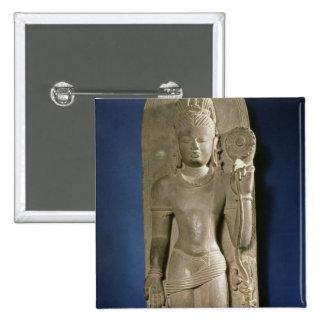 Bodhisattva Padmapani, Nalanda, Bihar, Pala dynast 2 Inch Square Button