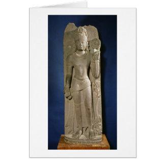 Bodhisattva Padmapani, Nalanda, Bihar, Pala dynast Greeting Card