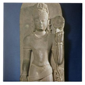 Bodhisattva Padmapani, Nalanda, Bihar, Pala dynast Large Square Tile