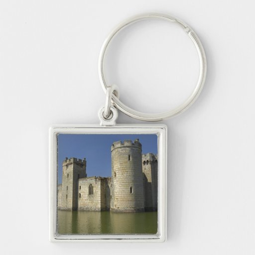 Bodiam Castle (1385), reflected in moat, East Key Chains