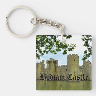 Bodiam Castle Double-Sided Square Acrylic Keychain