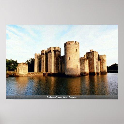 Bodiam Castle, Kent, England Poster