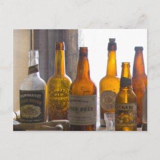 Bodie Antique Bottles Postcard