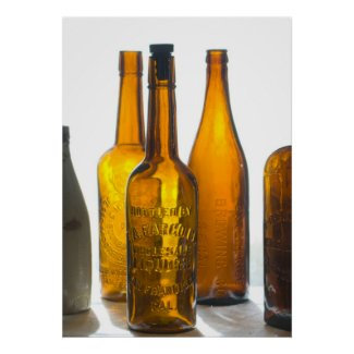 Bodie Antique Bottles Print