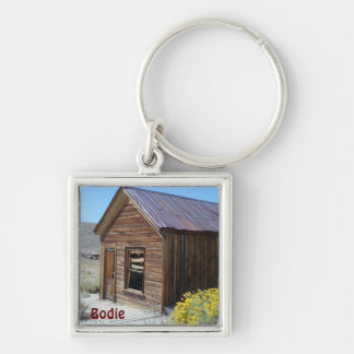 Bodie, CA Silver-Colored Square Keychain