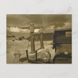 Bodie Dodge Graham & Shower Sepia postcard
