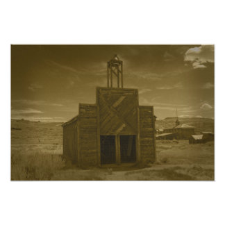 Bodie Firehouse Sepia Poster