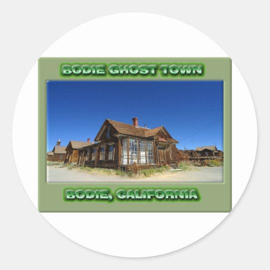 Bodie Ghost Town Classic Round Sticker