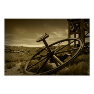 Bodie Ghost Town Sepia Poster