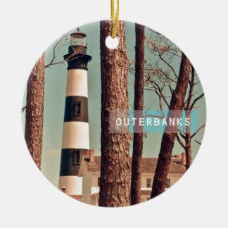 Bodie Island Light. Christmas Ornament