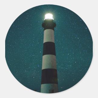 Bodie Island Light. Classic Round Sticker
