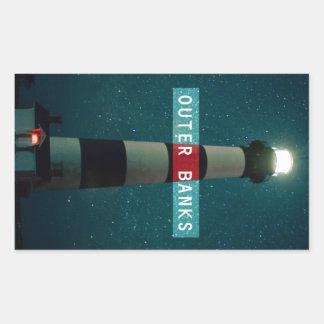 Bodie Island Light. Rectangular Sticker