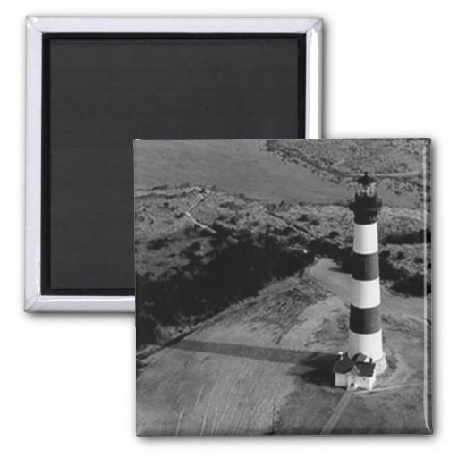Bodie Island Lighthouse 2 Inch Square Magnet