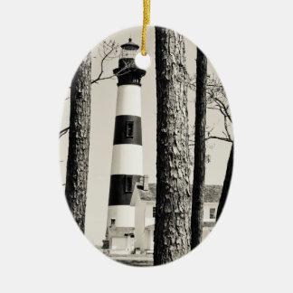 Bodie Island Lighthouse. Ceramic Ornament