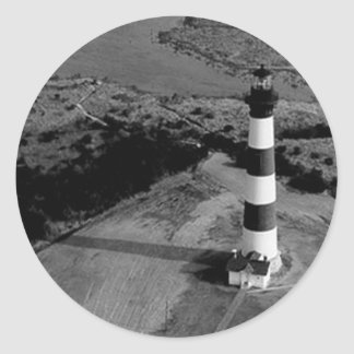 Bodie Island Lighthouse Classic Round Sticker