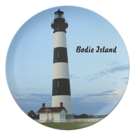 Bodie Island Lighthouse Melamine Plate