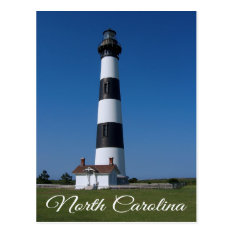Bodie Island Lighthouse, Nags Head North Carolina Postcard at Zazzle