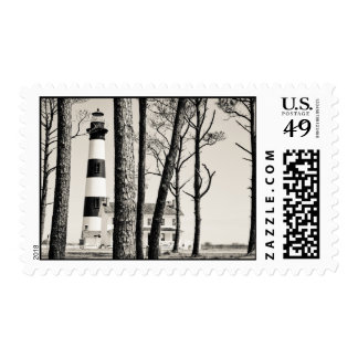 Bodie Island Lighthouse. Postage Stamp