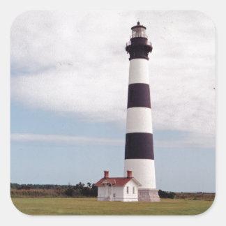 Bodie Island Lighthouse Square Sticker