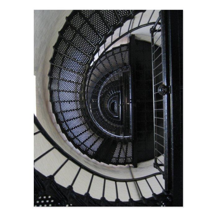 Bodie Island Lighthouse Stairwell Postcard