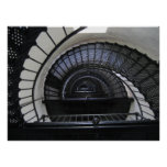 Bodie Island Lighthouse Stairwell Print