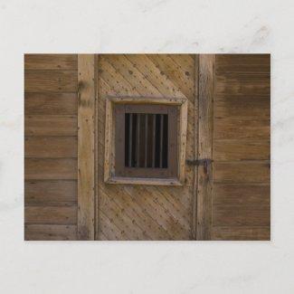 Bodie Jailhouse Door Post Card
